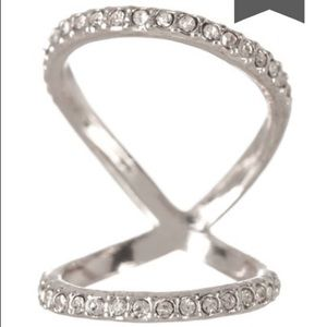 Jewelry - Mon Cherie Silver & Rhinestone Knuckle Ring